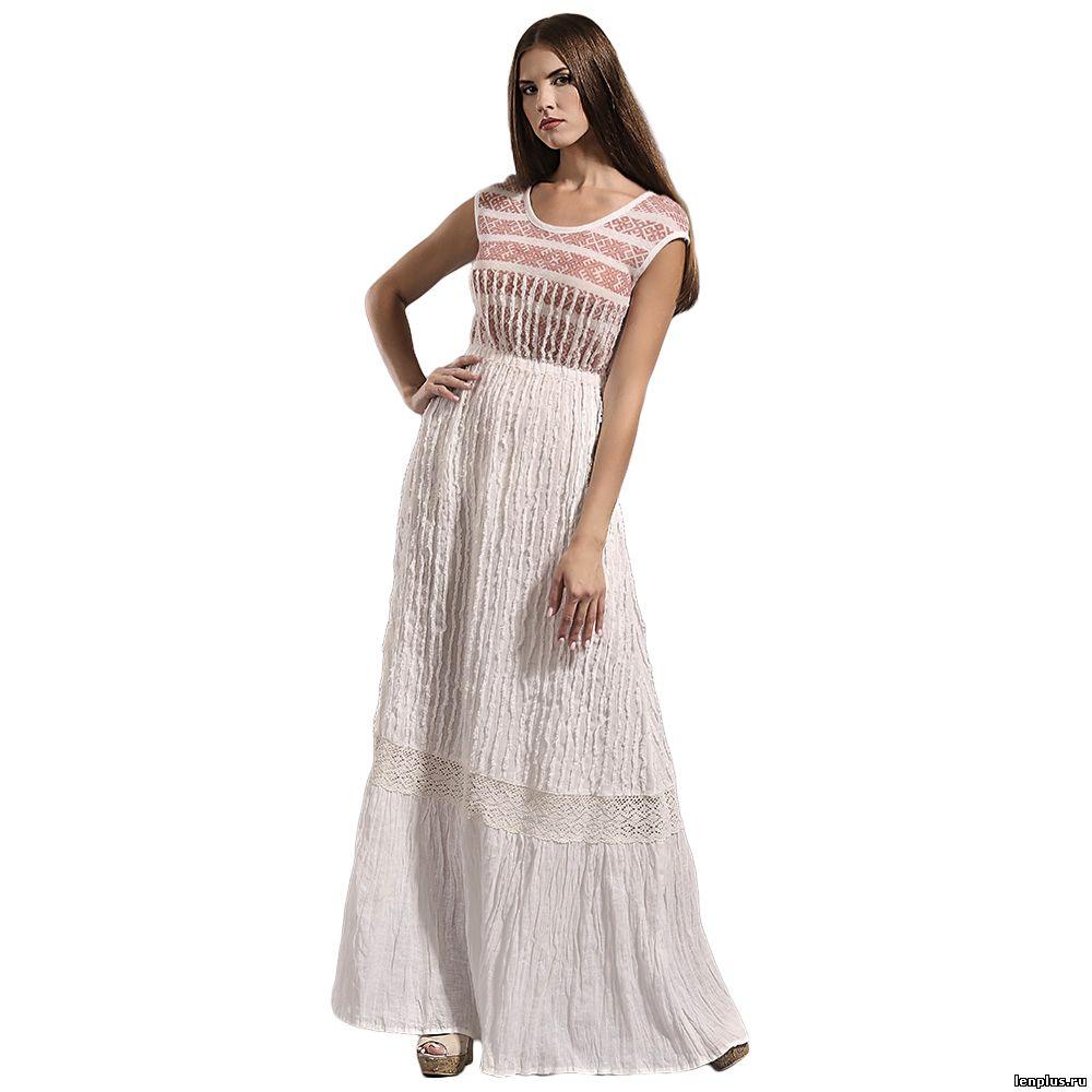 Платья из льняной ткани и